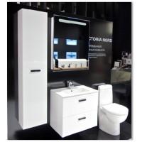 Комплект мебели ROCA VICTORIA NORD, белый, 60 см,тумба+раковина+левый зеркальный шкаф, ZRU9000028+32782100Y+ZRU9000029