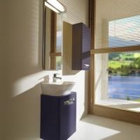 Комплект мебели ROCA THE GAP, фиолетовый, 45 см,тумба+раковина+зеркало со светильником, ZRU9302743+327477000+ZRU9000090