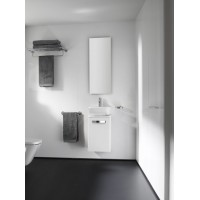 Комплект мебели ROCA THE GAP, белый, 45 см,тумба+раковина+зеркало со светильником, ZRU9302735+327477000+ZRU9000090