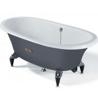 Чугунная ванна ROCA NEWCAST CLASSIC с ножками, серая, 233650000+291041001