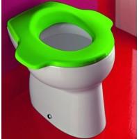 Детский унитаз Laufen Florakids, напольный, с зеленым сидением, 8.2203.6 + 8.9103.2