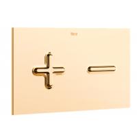 Золотая смывная клавиша для подвесного унитаза Roca Duplo PL6 DUAL 890085001DO