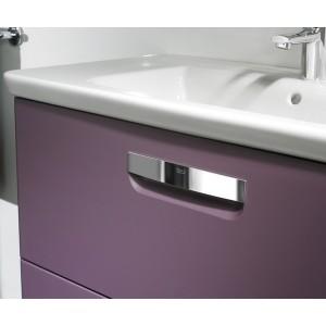 Тумба с раковиной ROCA THE GAP, фиолетовая, 80 см, ZRU9302740+327470000