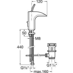 Смеситель для раковины ROCA EVOL 5A3049C00