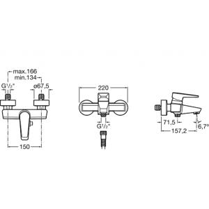Смеситель для ванны ROCA ESMAI 5A0231C00