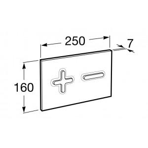 Смывная клавиша для подвесного унитаза ROCA PRO PL6 DUAL 890085002 мат.хром