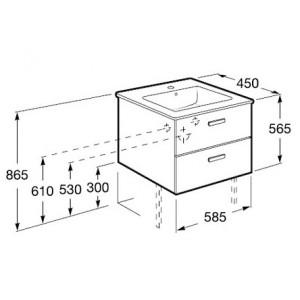 Комплект мебели ROCA VICTORIA NORD, белый, 60 см,тумба+раковина+правый зеркальный шкаф, ZRU9000028+32782100Y+ZRU9000030