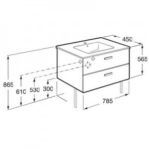 Комплект мебели ROCA VICTORIA NORD, венге, 80 см,тумба+раковина+зеркальный шкаф, ZRU9000031+32799C000+ZRU9000033