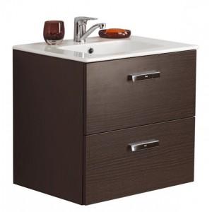 Комплект мебели ROCA VICTORIA NORD, венге, 60 см,тумба+раковина+левый зеркальный шкаф, ZRU9000027+32782100Y+ZRU9000029