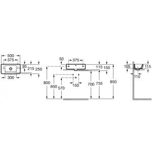Компактная раковина ROCA HALL, 50х25 см, 325883000