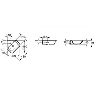 Угловая раковина ROCA The GAP 48х48см, 32747R000