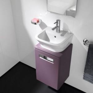 Тумба с раковиной ROCA THE GAP, фиолетовая, 45 см, ZRU9302743+327477000