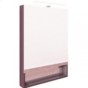 Зеркальный шкаф со светильником ROCA THE GAP, фиолетовый, 60см, ZRU9302751
