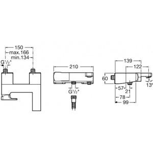 Смеситель для ванны ROCA L90 5A0101C00