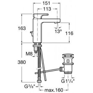 Смеситель для раковины ROCA L90 5A3001C00