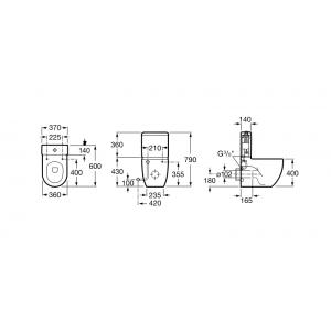 Напольный унитаз ROCA MERIDIAN COMPACT, микролифт, 342248000+341242000+8012AC004
