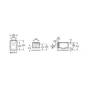 Подвесной унитаз ROCA ELEMENT, микролифт, 346577000+801572004