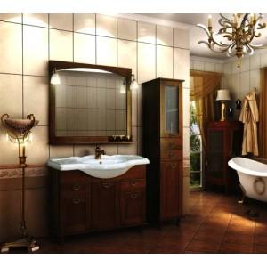 Зеркало со светильниками ROCA AMERICA, орех, 105 см, ZRU9302794+ZRU9302810