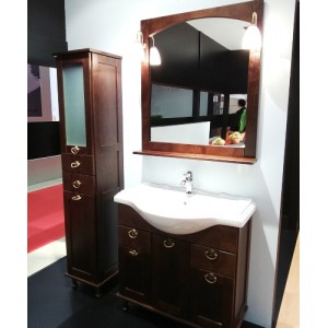Зеркало со светильниками ROCA AMERICA, орех, 85 см, ZRU9302793+ZRU9302810