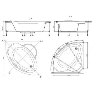 Акриловая ванна ROCA BALI 150x150, ZRU9302916+ZRU9302917