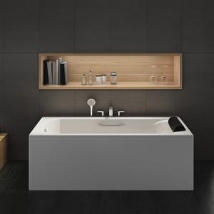 Акриловая ванна ROCA BECOOL 180x80, с ручками, сливом и монтажным каркасом, ZRU9302782+ZRU9302786