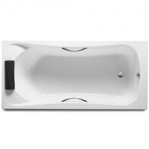 Акриловая ванна ROCA BECOOL 170x80, с ручками, сливом и монтажным каркасом, ZRU9302852+ZRU9302853
