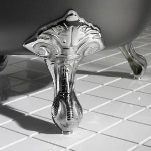 Чугунная ванна Roca Carmen 160х80, с ножками, серая, 234250000+291094000