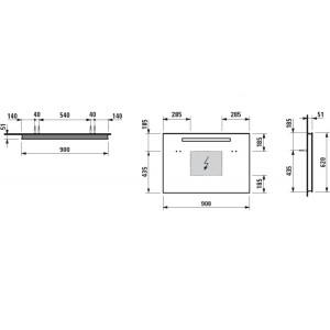 Зеркало Laufen Case, с подсветкой и сенсорным выключателем, 90см, 4.4724.5