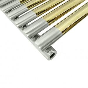 Полотенцесушитель водяной Prada Charles 600х450 мм, золото