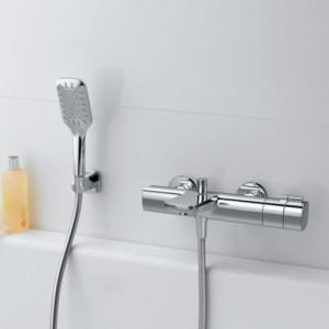 Термостатический смеситель для ванны LAUFEN CITYPLUS с душевым комплектом, 3.2375.7.004.136.1