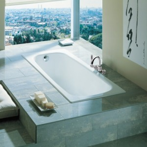Чугунная ванна ROCA CONTINENTAL 150X70 с ножками, 21291300R+150412330