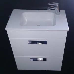 Тумба с раковиной ROCA DEBBA, ящики, белый, 60 см, ZRU9302708+32799H000