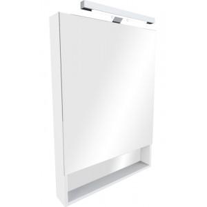 Зеркальный шкаф со светильником ROCA THE GAP, белый глянец, 80см, ZRU9302887