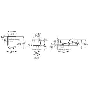 Подвесное биде ROCA INSPIRA ROUND, с крышкой микролифт, 357525000+80652200B