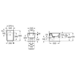 Подвесное биде ROCA INSPIRA SQUARE, с крышкой микролифт, 357535000+80653200B