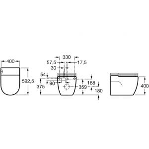 Напольный унитаз Roca In-Tank Meridian, с сидением микролифт, 893303000
