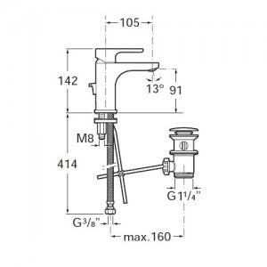 Смеситель для раковины ROCA L20 XL 5A3A09C00