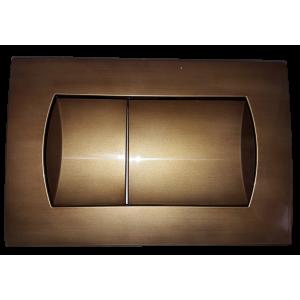 Комплект инсталляция, бронзовая клавиша и подвесной унитаз ROCA MATEO, микролифт, 893100010BR