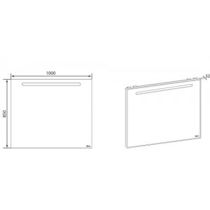 Комплект мебели ROCA LAKS, 100 см,тумба+раковина+зеркало, ZRU9302797+327207000+ZRU9302809