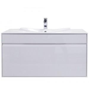 Тумба с раковиной ROCA LAKS, белый, 80см, ZRU9302798+3270G4000