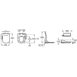 Многофункциональное сидение Roca Multiclean Advance Soft, 804004001