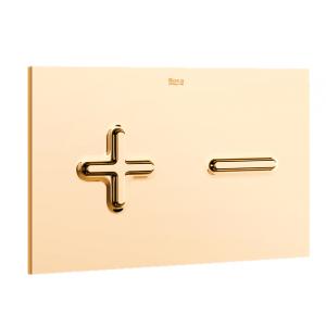 Комплект инсталляция,золотая клавиша PL6 и подвесной унитаз DAMA SENSO, микролифт, 890090000+890085001DO+346517000+ZRU9000041