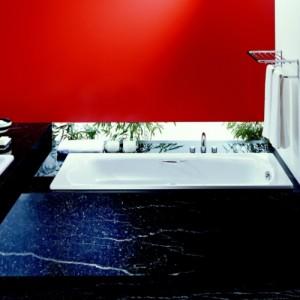Стальная ванна LAUFEN PALLADIUM 180 х 80 с ручками и ножками, 2.2510.3 + 2.9618.1 + 2.9617.1