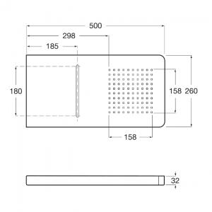 Верхний душ с функцией каскада Roca Puzzle, 5A9978C00