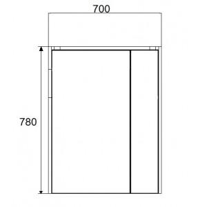 Зеркальный шкаф Roca Ronda, белый глянец, 70 см, ZRU9303008