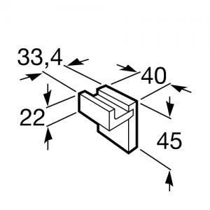 Крючок для одежды Roca Rubik, 816840001