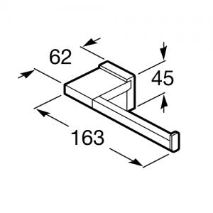 Держатель для туалетной бумаги Roca Rubik, 816850001
