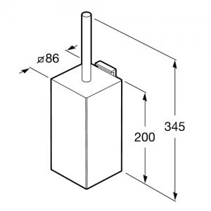 Настенный ершик Roca Rubik, 816851001