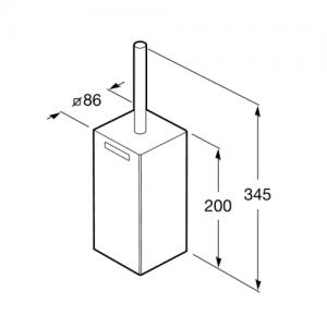 Напольный ершик Roca Rubik, 816852001