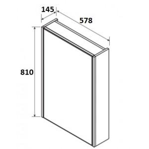 Зеркальный шкаф Roca UP, белый глянец, левое открывание, 60 см, ZRU9303015